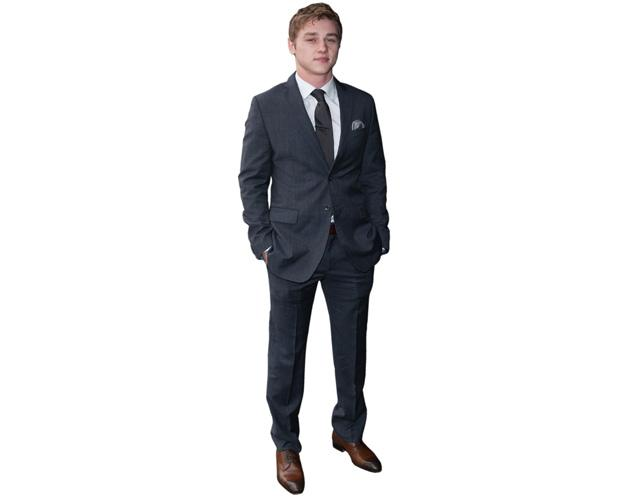 A Lifesize Cardboard Cutout of Ben Hardy wearing a suit