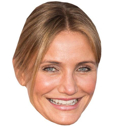 A Cardboard Celebrity Big Head of Cameron Diaz