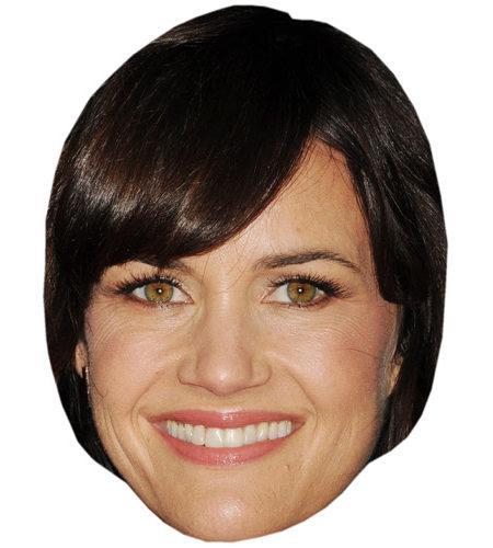 A Cardboard Celebrity Big Head of Carla Gugino
