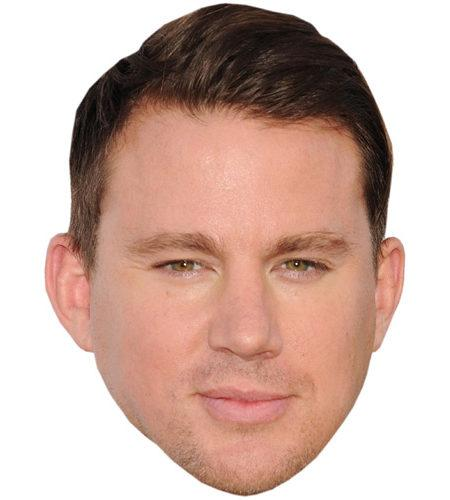 A Cardboard Celebrity Mask of Channing Tatum