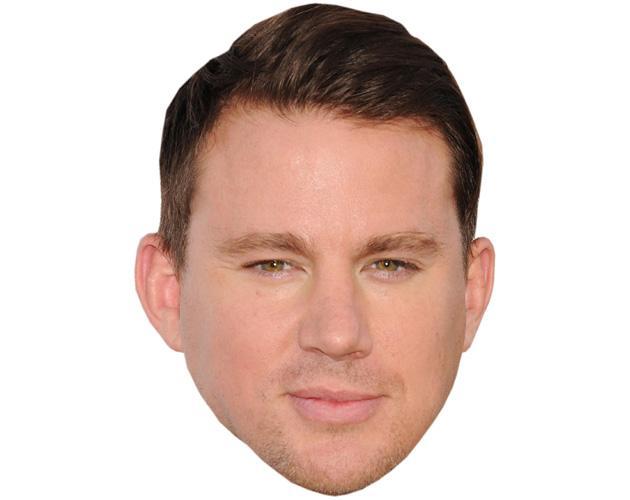A Cardboard Celebrity Mask of Channing Tatum