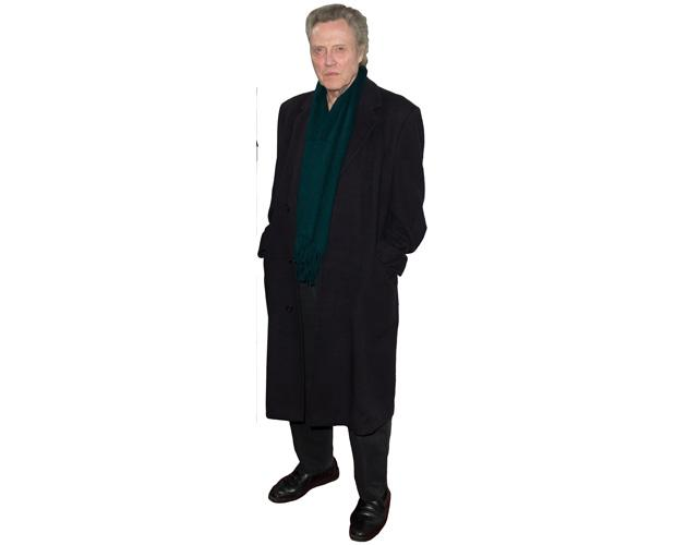 A Lifesize Cardboard Cutout of Christopher Walken wearing a coat