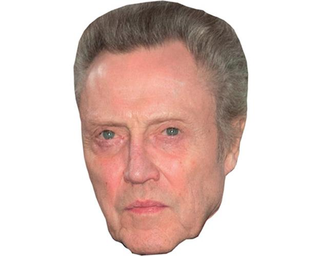 A Cardboard Celebrity Mask of Christopher Walken