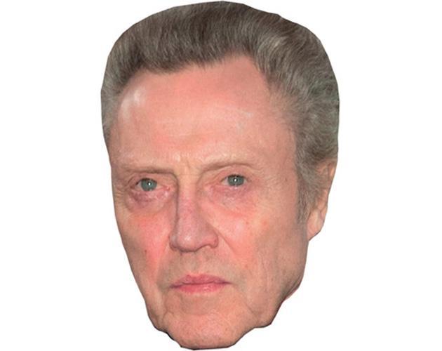 A Cardboard Celebrity Mask of Christopher Walken