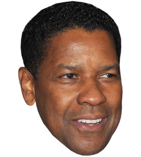 A Cardboard Celebrity Mask of Denzel Washington