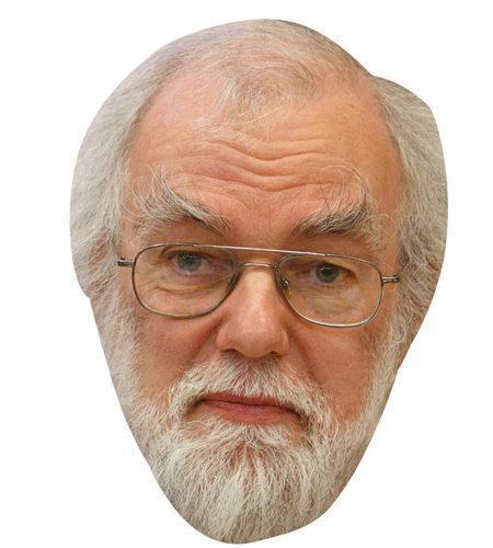 A Cardboard Celebrity Mask of Dr Rowan Williams