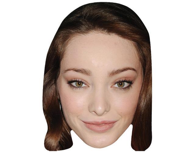 A Cardboard Celebrity Mask of Emma Dumont