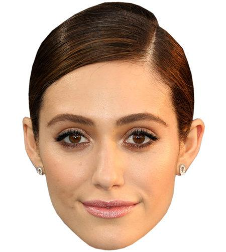 A Cardboard Celebrity Mask of Emmy Rossum
