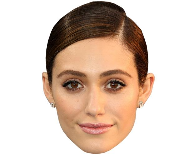 A Cardboard Celebrity Mask of Emmy Rossum