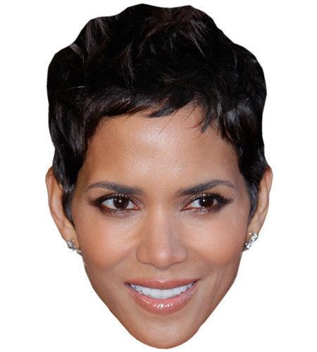 A Cardboard Celebrity Mask of Halle Berry