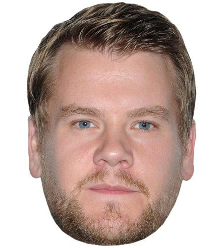 A Cardboard Celebrity Big Head of James Corden