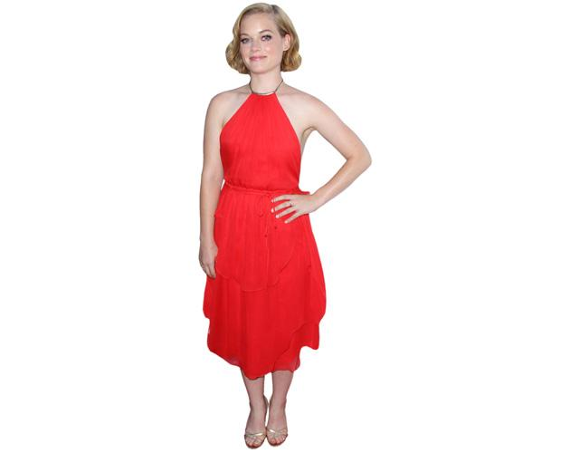 A Lifesize Cardboard Cutout of Jane Levy wearing red
