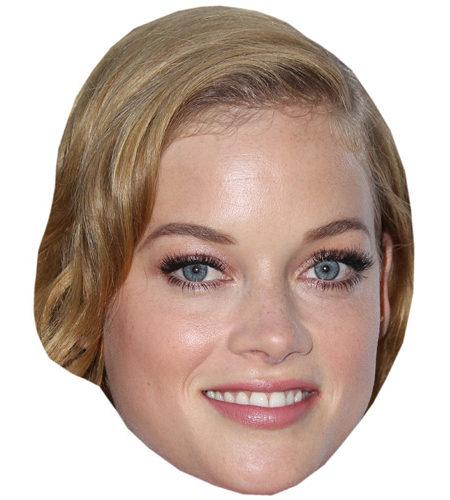 A Cardboard Celebrity Mask of Jane Levy