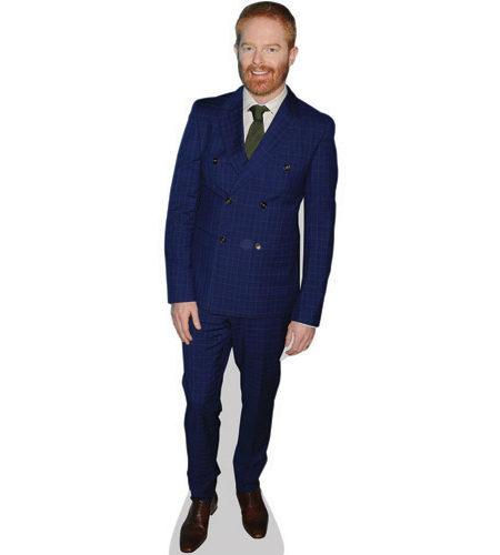 A Lifesize Cardboard Cutout of Jesse Tyler Ferguson wearing a suit