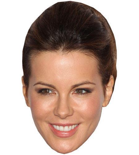 A Cardboard Celebrity Mask of Kate Beckinsale