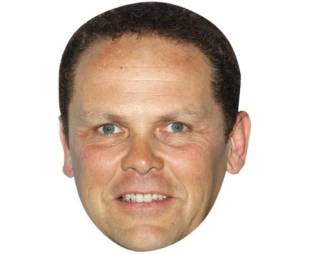 A Cardboard Celebrity Mask of Kevin Chapman