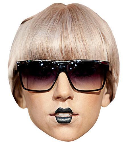 A Cardboard Celebrity Mask of Lady Gaga (Glasses)