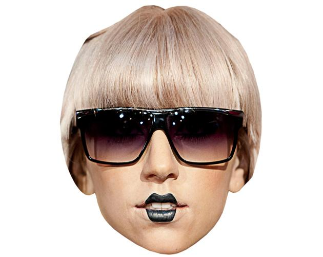 A Cardboard Celebrity Mask of Lady Gaga (Glasses)