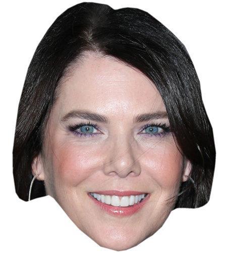 A Cardboard Celebrity Mask of Lauren Graham