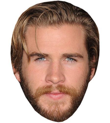A Cardboard Celebrity Mask of Liam Hemsworth
