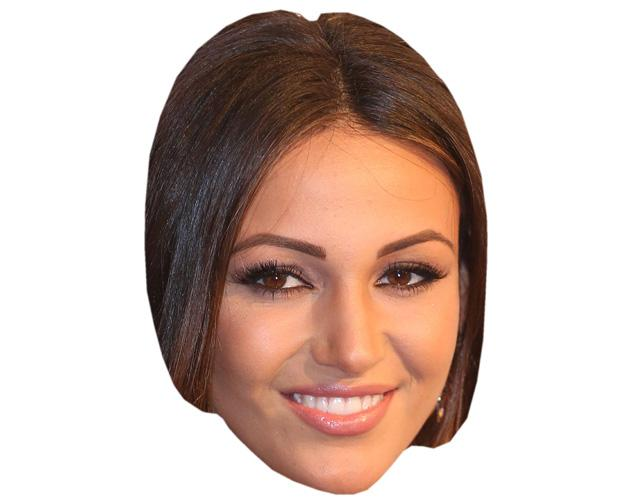 A Cardboard Celebrity Mask of Michelle Keegan