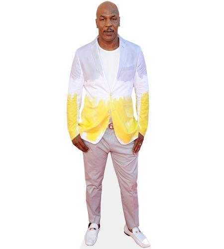 A Lifesize Cardboard Cutout of Mike Tyson wearing jeans