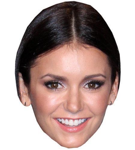 ACardboard Celebrity Mask of Nina Dobrev