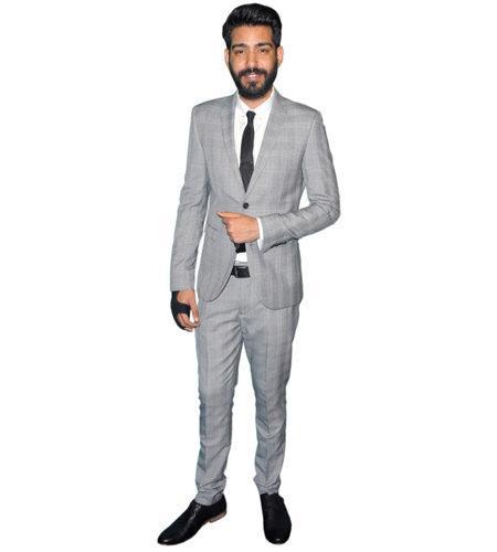 A Lifesize Cardboard Cutout of Rahul Kohli wearing a suit