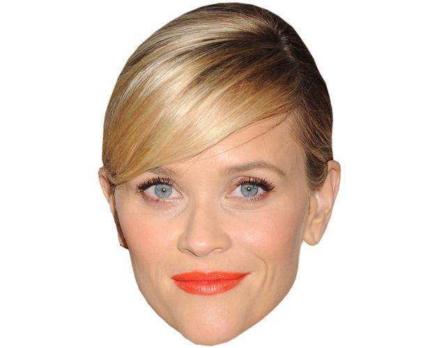 A Cardboard Celebrity Mask of Reese Witherspoon