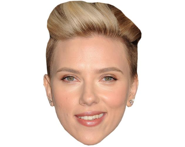 A Cardboard Celebrity Mask of Scarlett Johansson