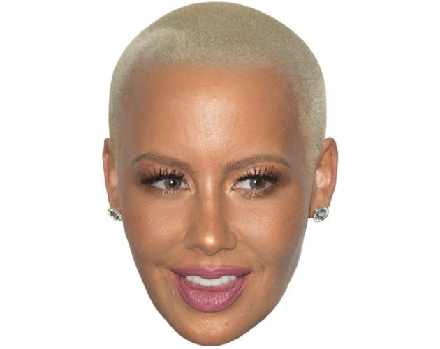 A Cardboard Celebrity Mask of Amber Rose