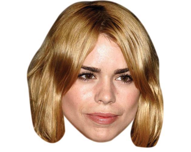 A Cardboard Celebrity Mask of Billie Piper