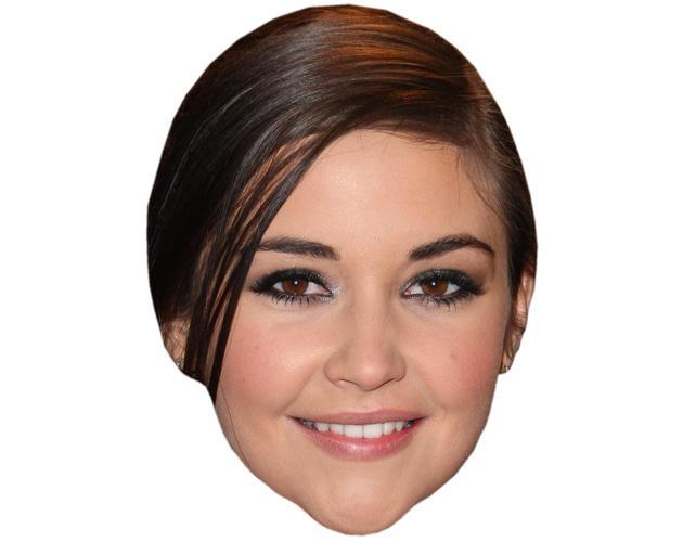 A Cardboard Celebrity Mask of Jacqueline Jossa