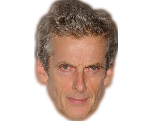 A Cardboard Celebrity Mask of Peter Capaldi
