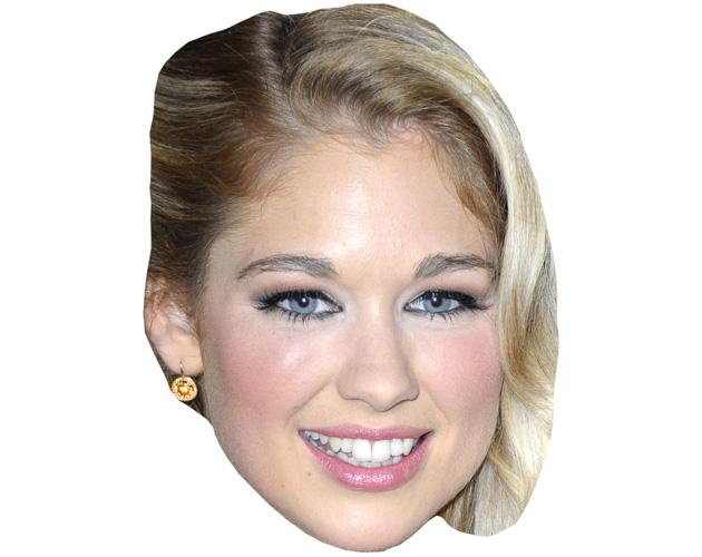 A Cardboard Celebrity Mask of Amanda Clapham
