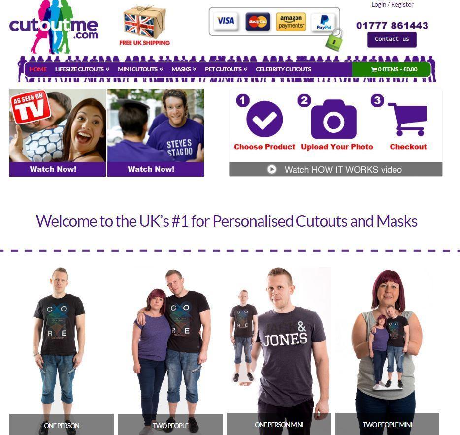 CutoutME personalised cutouts