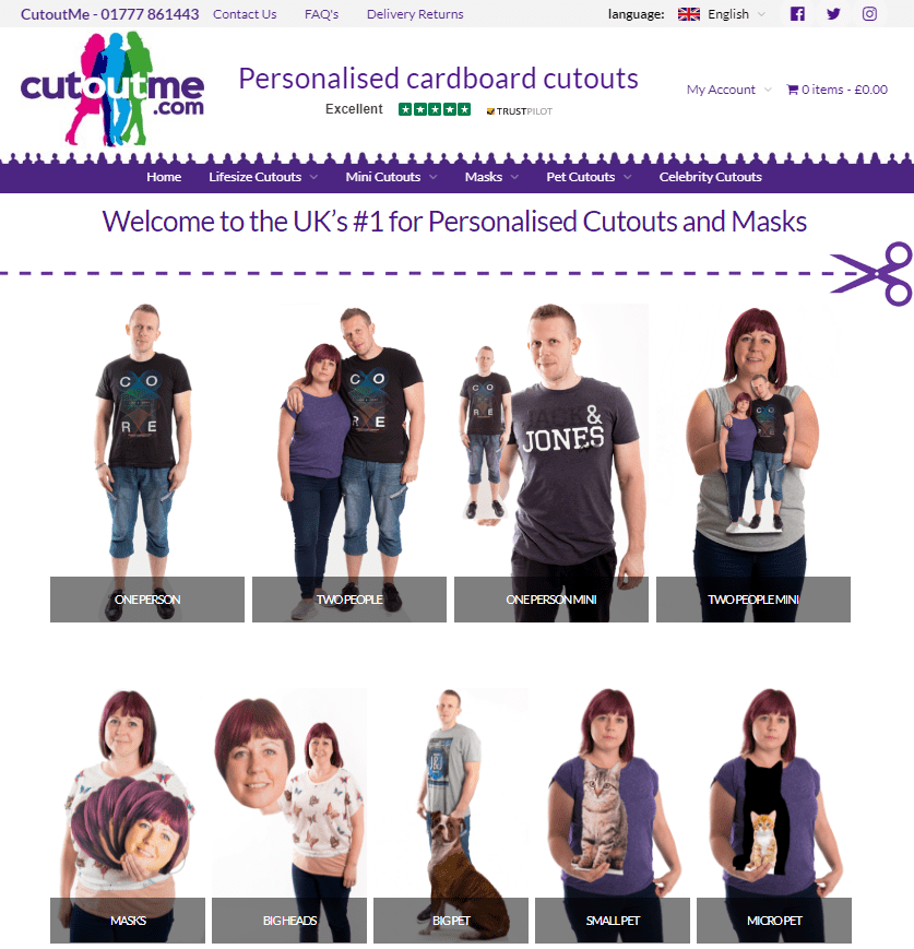 CutoutME personalised cutouts