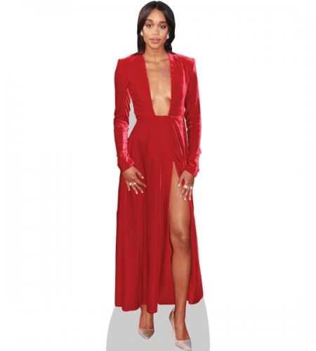 Laura Harrier (Red Dress)