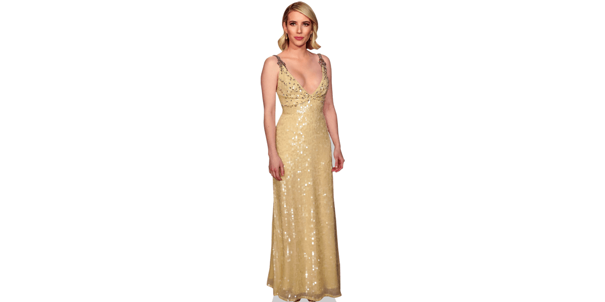Emma Roberts Gold Dress Cardboard Cutout Celebrity Cardboard Cutouts